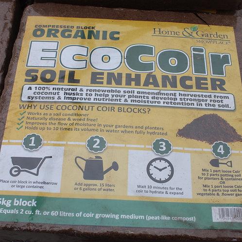 Eco Coir Soil Enhancer 5-kg block