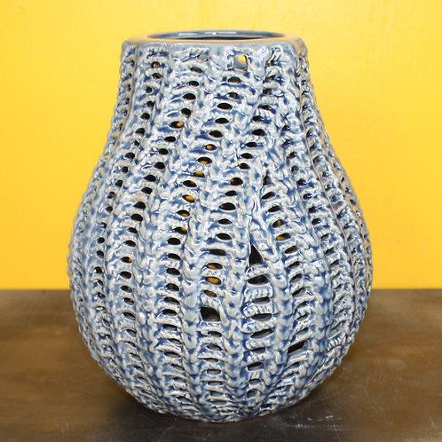 Blue Corn Ceramic Vase - small