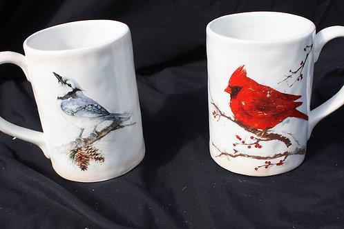 Coffee Mugs - Blue Jay or Cardinal