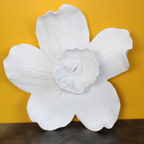 White Orchid wall hanging - large