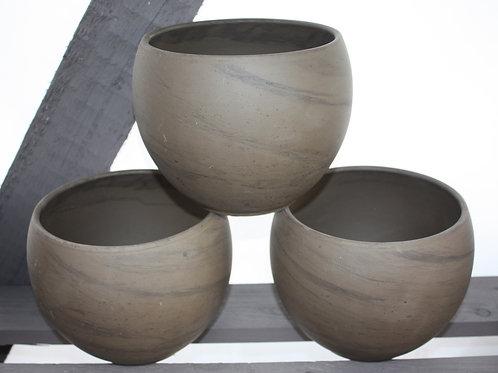 Ceramic Brown Round Pot (large)