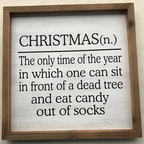Christmas Definition print
