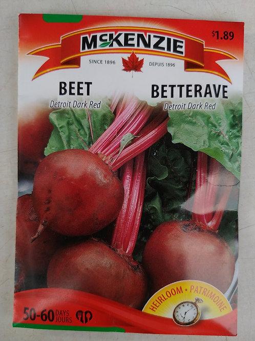 McKenzie Beet (Detroit Dark Red) Seeds