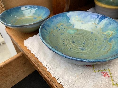 Handmade Pottery - Shallow Bowl Sets