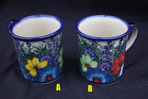 Polish Pottery - Floral Mugs