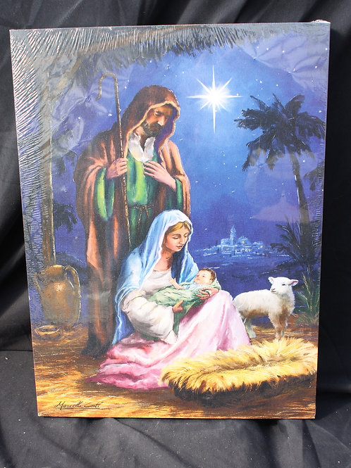 Holy Family LED canvas