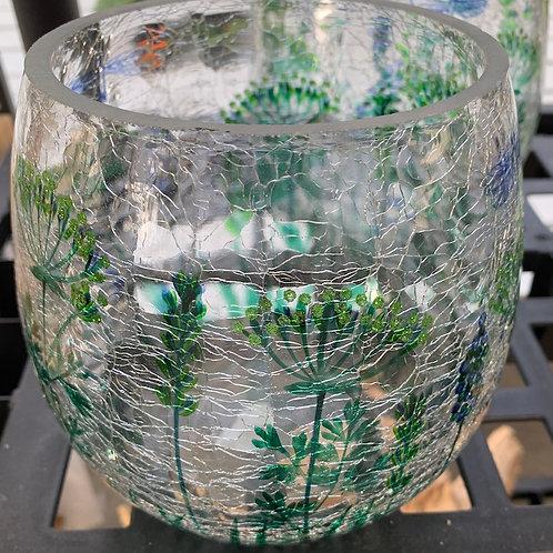 Crackled Glass Pear-shaped Vase