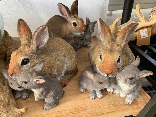 Mother Rabbit and 2 Bunnies