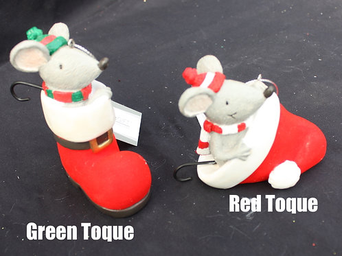 Mouse in Boot ornaments