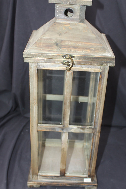 Wooden Candle Lantern - small