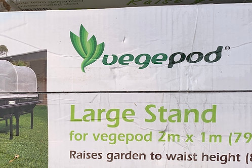 Galvanized steel stand for large Vegepod garden bed