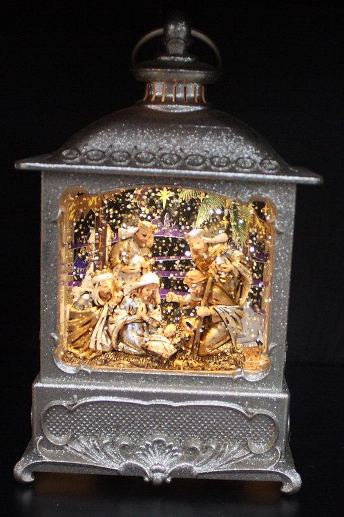 Illuminated Snowglobe-Style Nativity