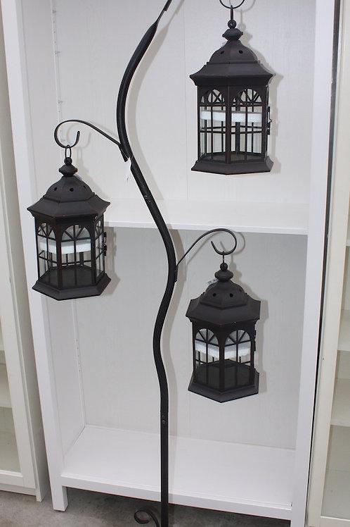 Lamp stand with three lanterns