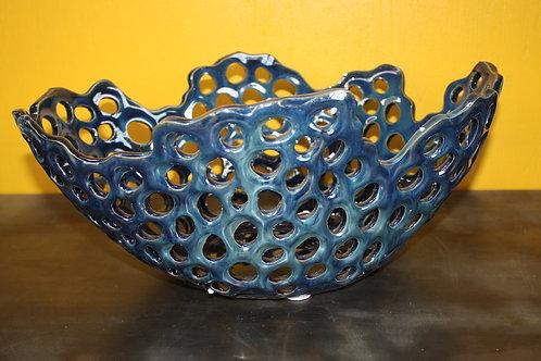 Navy Blue Honeycomb Bowl
