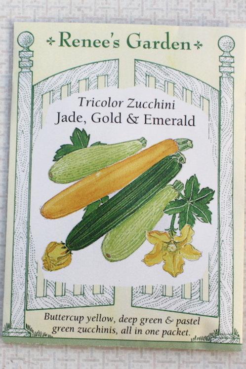 Renee's Garden Zucchini - Tricolor Mix - Jade, Gold & Emerald