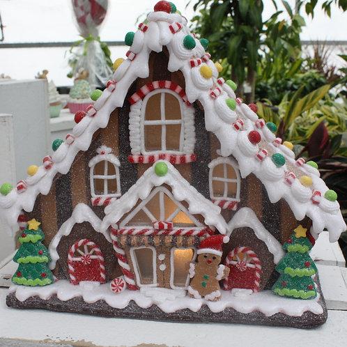 Gingerbread House - large, LED