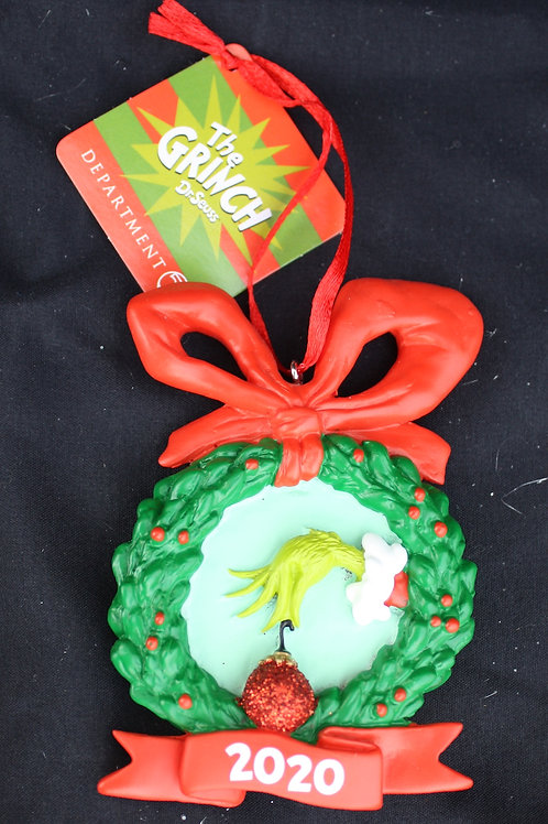 Grinch - Dated Wreath tree ornament
