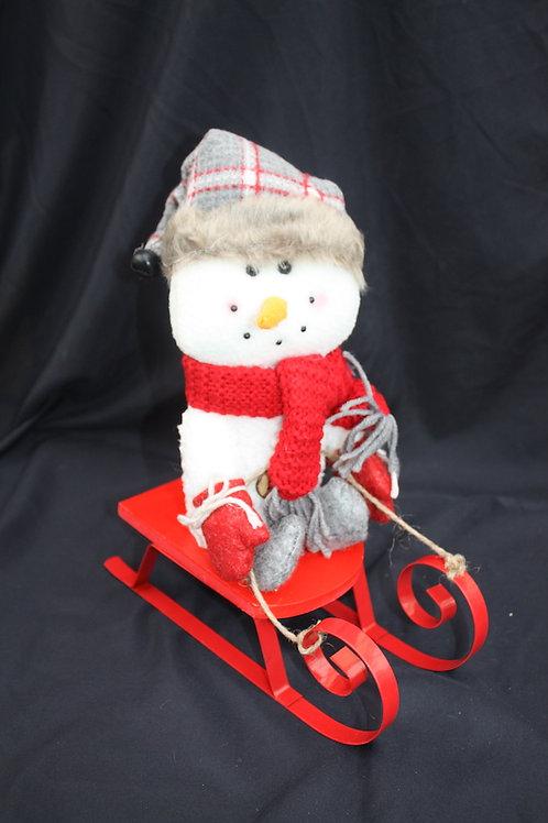 Snowman on Sleigh