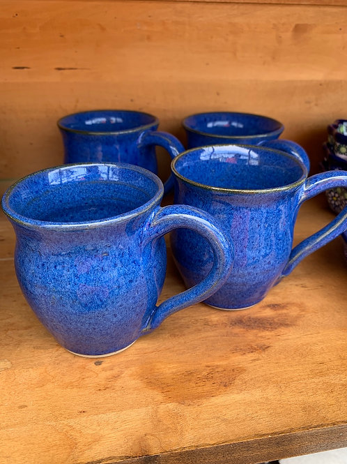 Handmade Pottery - Blue Mugs - small