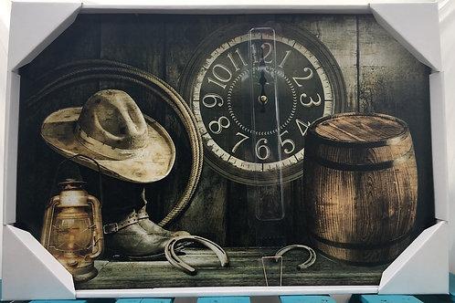 Western Themed Clock