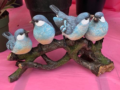 Birds on a branch - resin