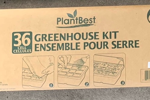 PlantBest Greenhouse Kit with 36 plastic cells