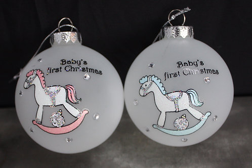 Baby's First Christmas Rocking Horse ornaments
