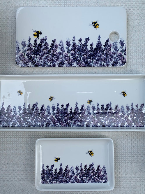 Cheese Board - Bees and Lavender design