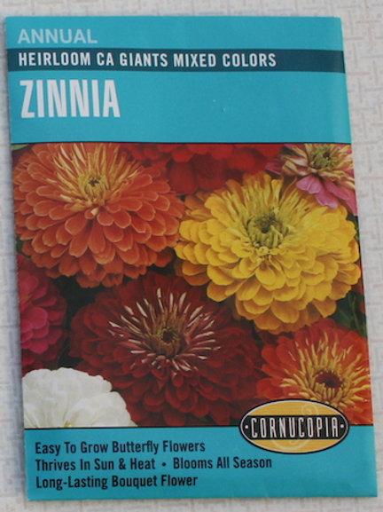 Cornucopia - Zinnia - Heirloom California Giant Mixed Colors