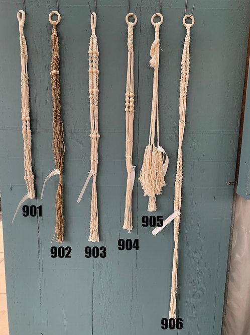 Macrame Double Plant Hanger - 906
