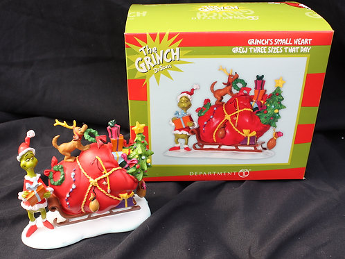 Grinch - Small Heart shelf decoration