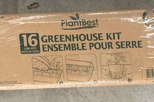 PlantBest Greenhouse Kit with 16 coconut coir pots