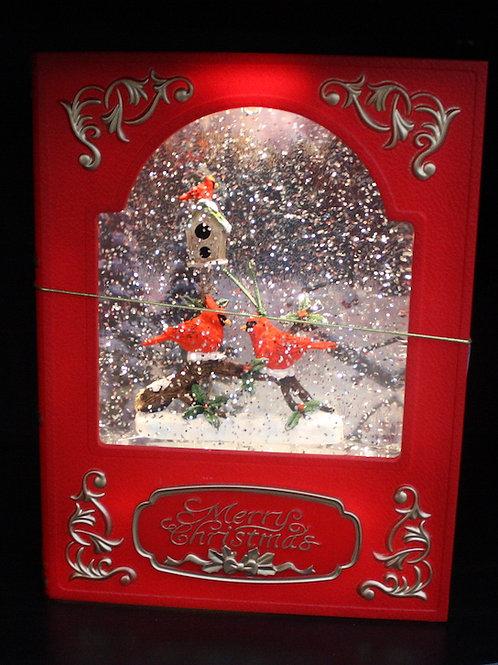 Illuminated Snowglobe-Style Storybook - Cardinals