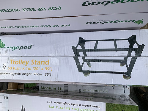 Trolley stand for small Vegepod garden bed