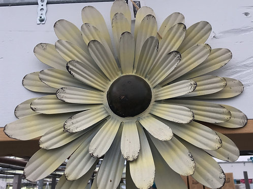 Antique White Metal Flower