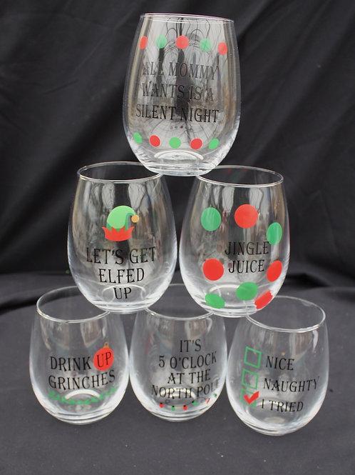 Stemless Wine Glasses - Fun Sayings