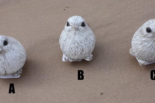 Ceramic grey sparrows