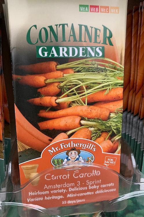 Mr Fothergill's Container Carrot Seeds