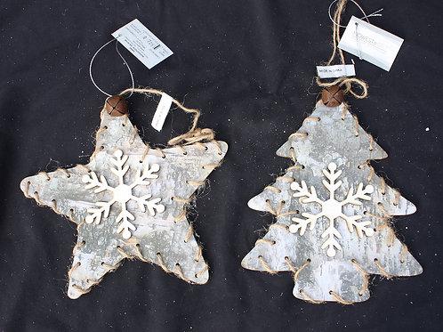 Rustic Birchbark-look ornaments