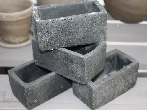 Ceramic Black Rectangle Pot