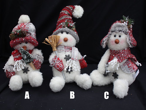 Plush Snowmen - Seated
