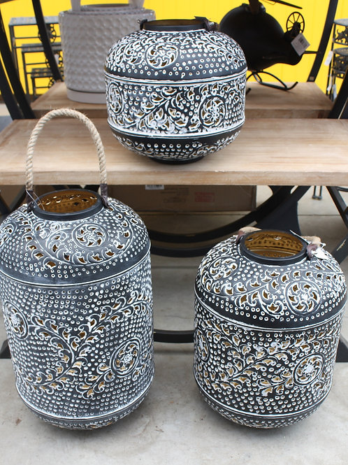Decorative Metal Garden Lantern - medium