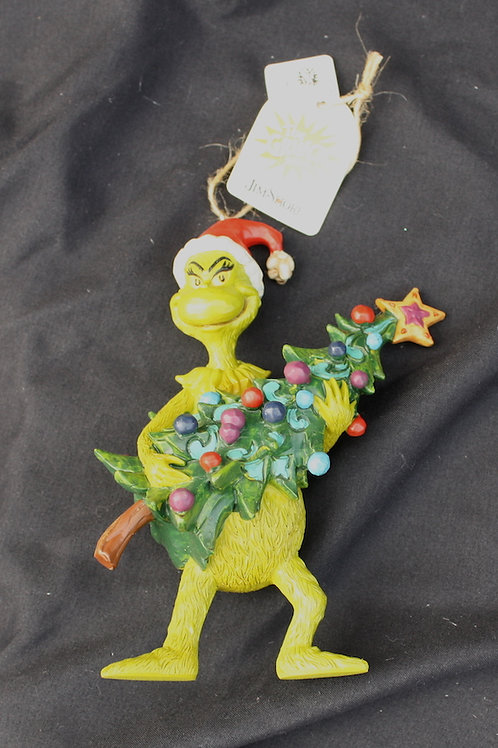 Grinch - Holding Christmas Tree ornament