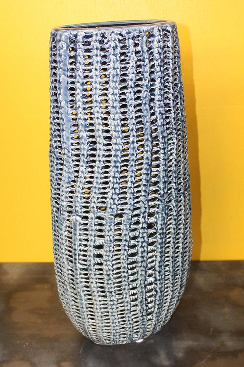 Blue Corn Ceramic Vase - large