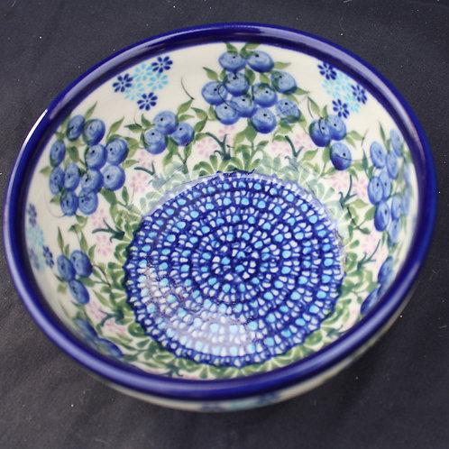 Polish Pottery - 5-inch Blueberry Bowl