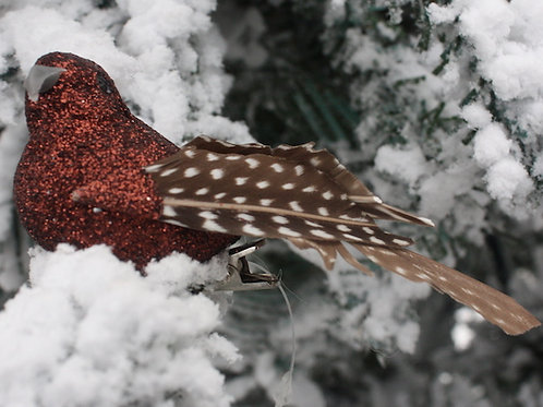 Red-Brown Feathered Bird ornament