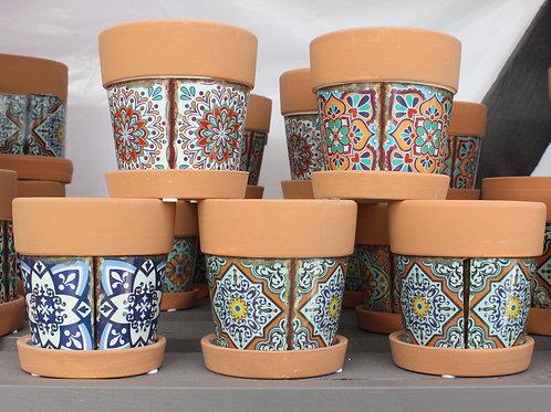 Mosaic Terracotta Round Pot (small)