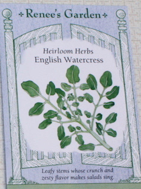 Renee's Garden Heirloom Watercress - English