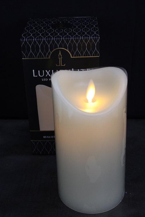 LED Wax Pillar Candle - 6-inch