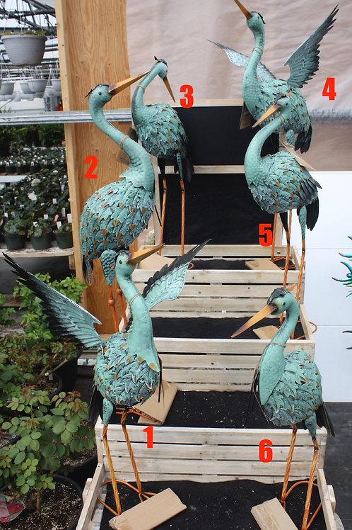 Assorted Iron Blue Cranes